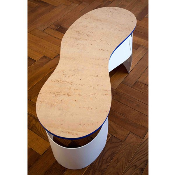 Peanut - a sculptural couch table - YOUR ARTIST - Top view 1